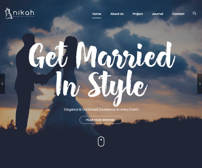 Nikah WordPress Wedding Theme