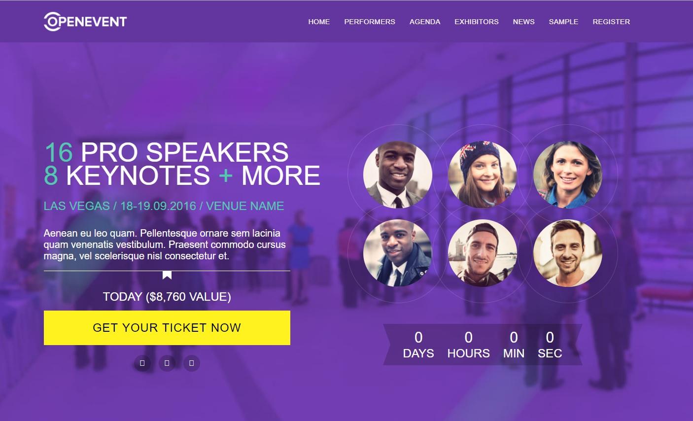 OpenEvent WordPress Event Theme