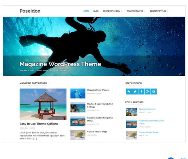 Poseidon WordPress magazine theme