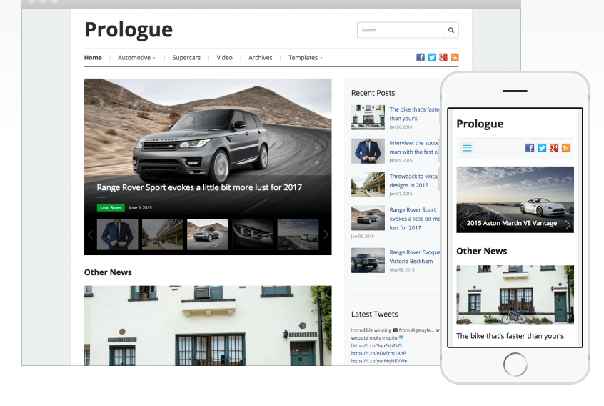 Prolouge WordPress magazine theme