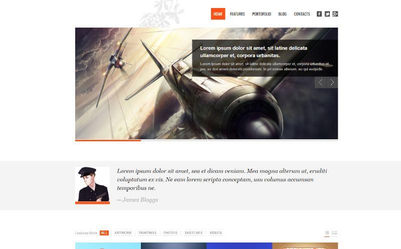 Revoke portfolio WordPress theme