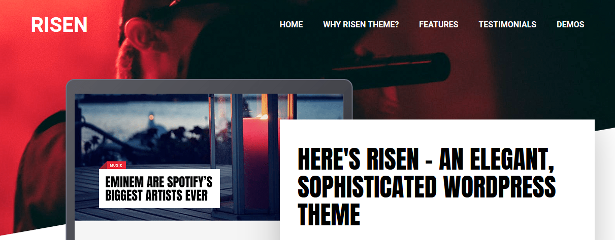 Risen WordPress magazine theme