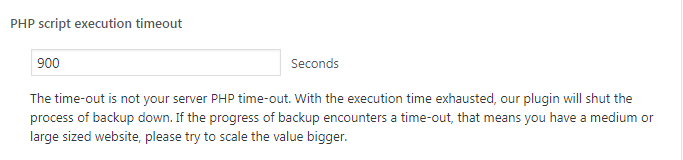 Set PHP script execution timeout
