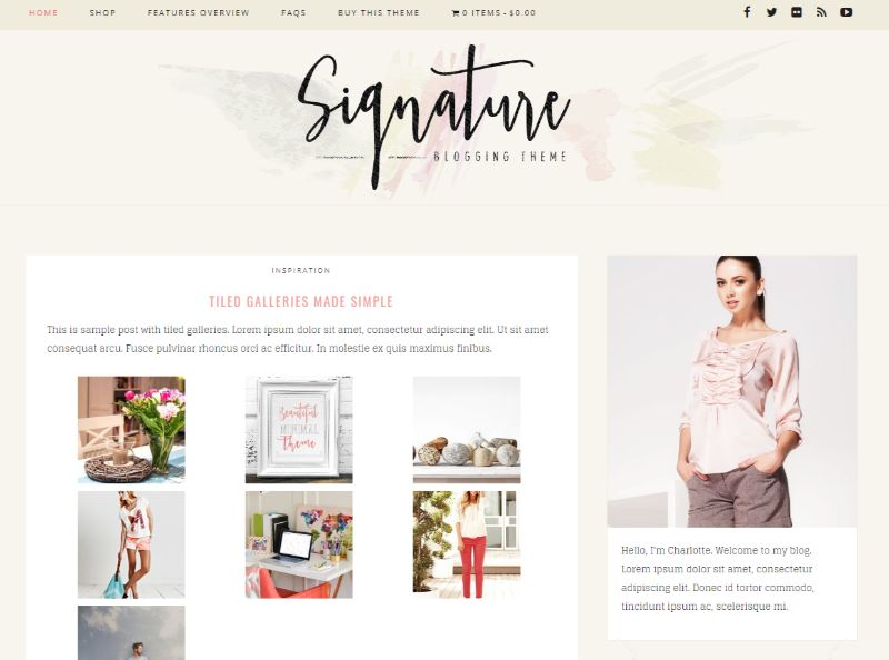 Signature WordPress Fashion Theme