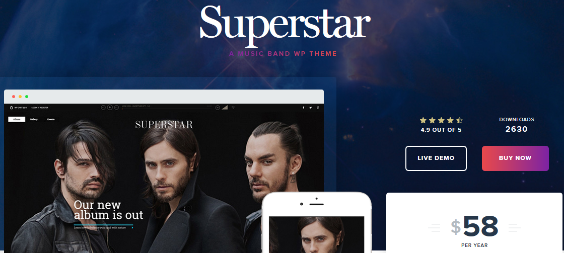 Superstar WordPress magazine theme