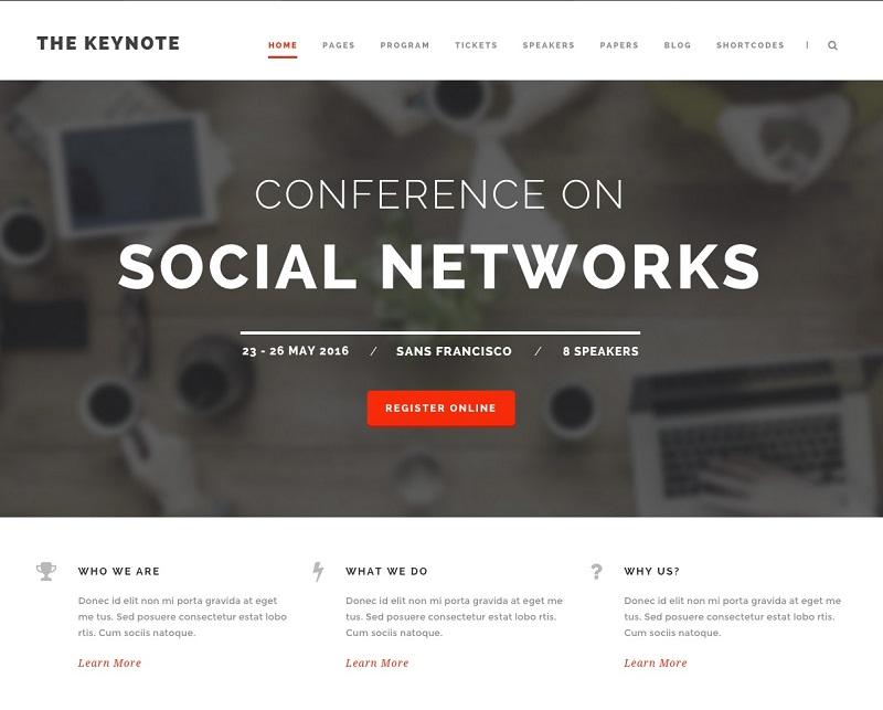 The Keynote WordPress Event Theme