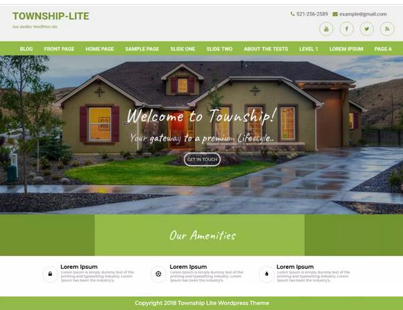 Township lite hotel WordPress theme