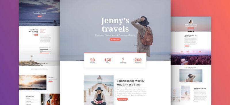 Travel Divi Layout WordPress travel theme