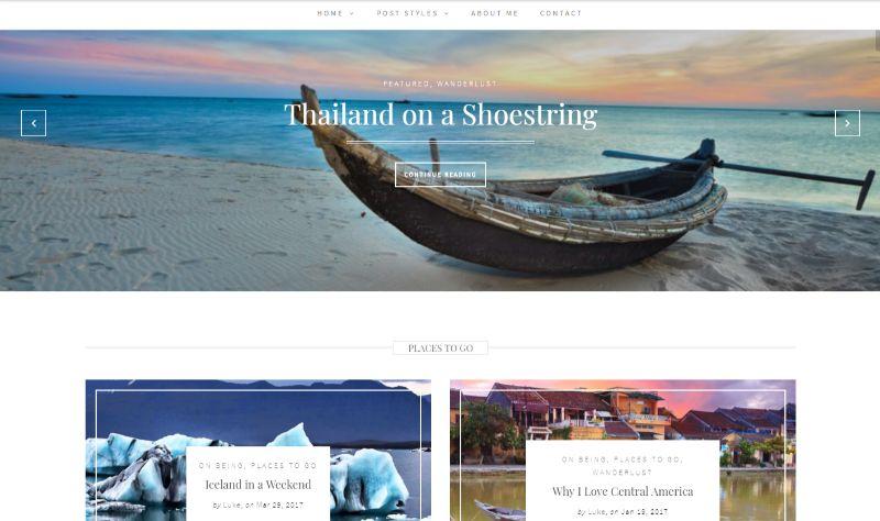 Wanderlust WordPress travel theme