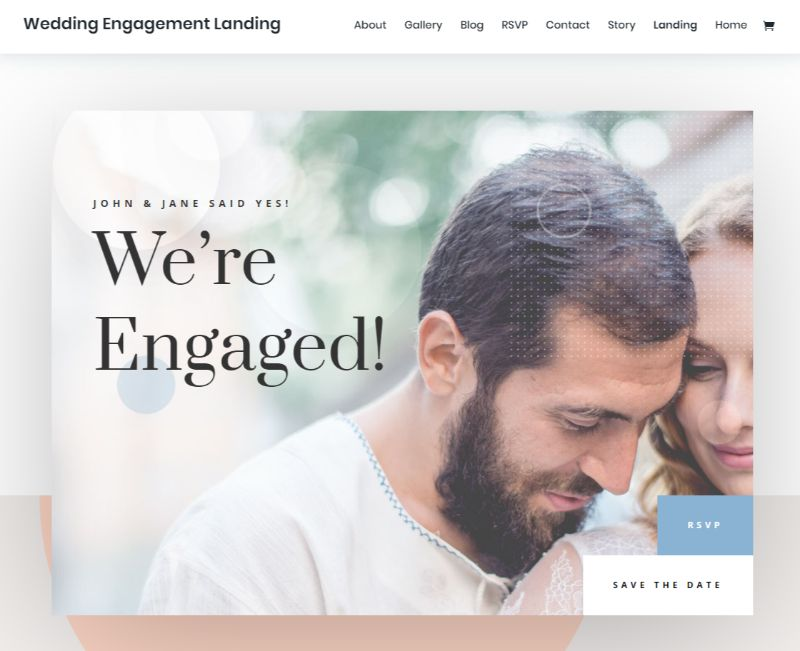 Wedding Engagement Divi Layout