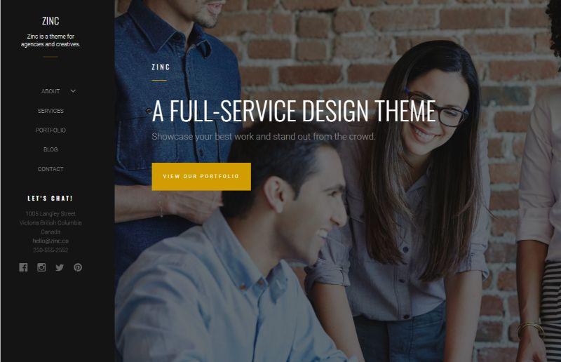 Zinc WordPress Business Theme