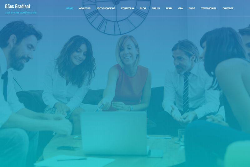 Eight Sec Pro One Page WordPress Theme