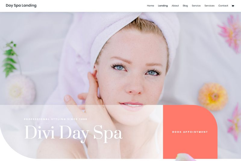Divi Day Spa Layout