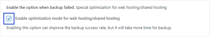 Enable optimization mode for shared hosting