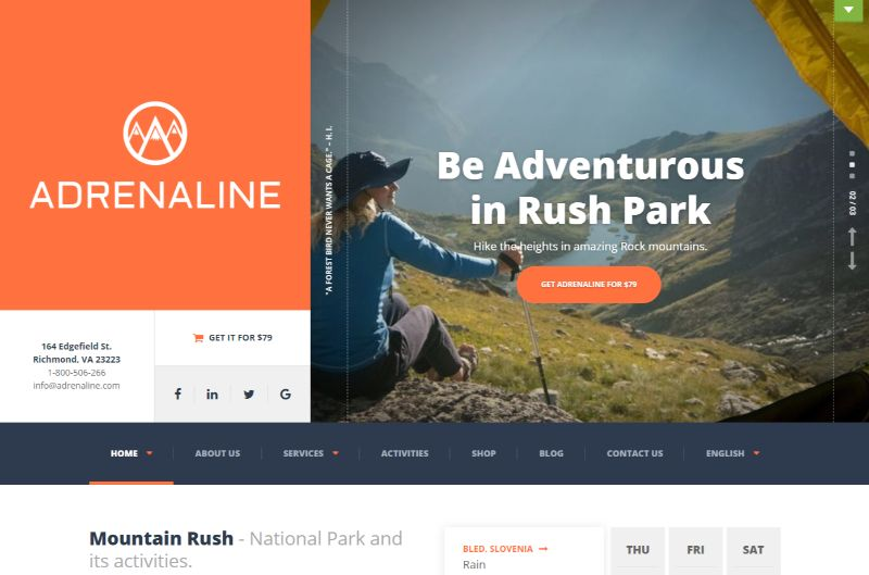 Adrenaline Sports WordPress Theme
