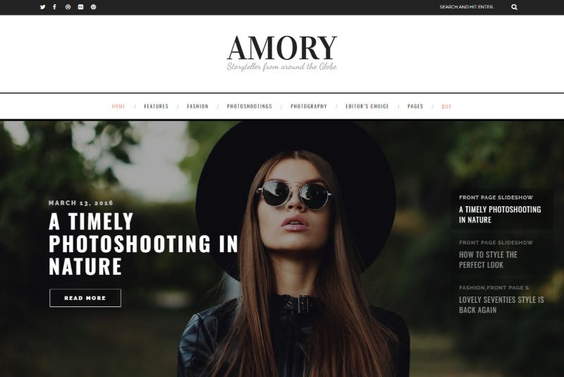 Amory Feminine WordPress Theme