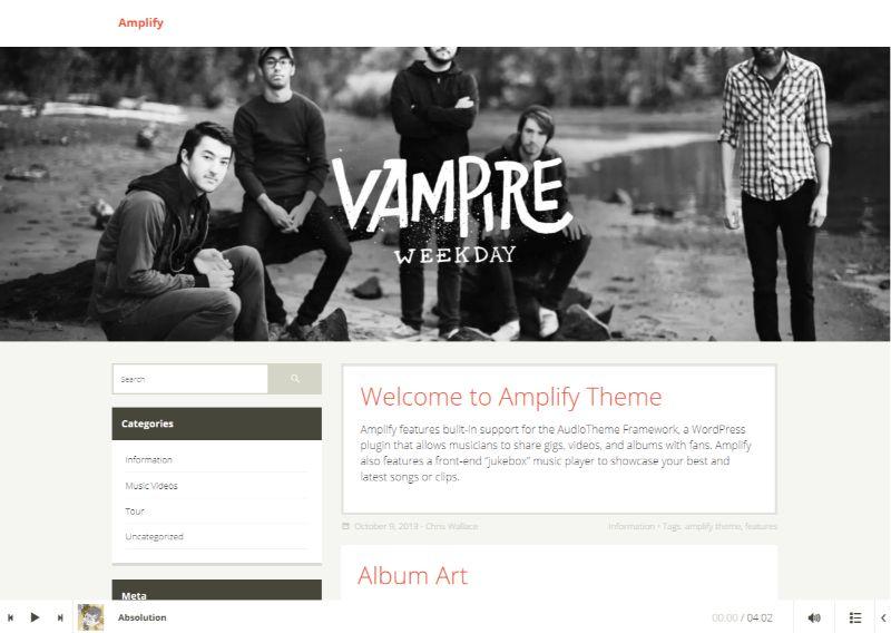 Amplify WordPress Music Theme