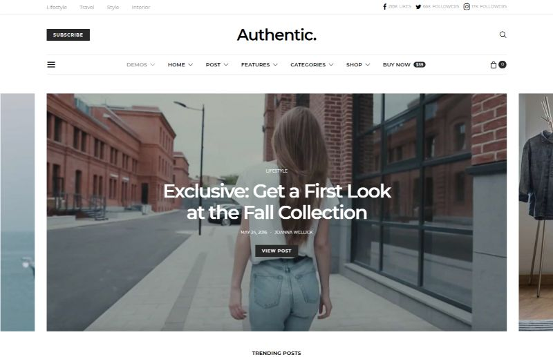 Authentic Lifestyle WordPress Theme