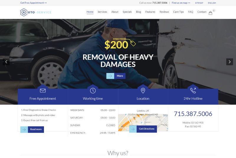 Auto Repair Automotive WordPress Theme