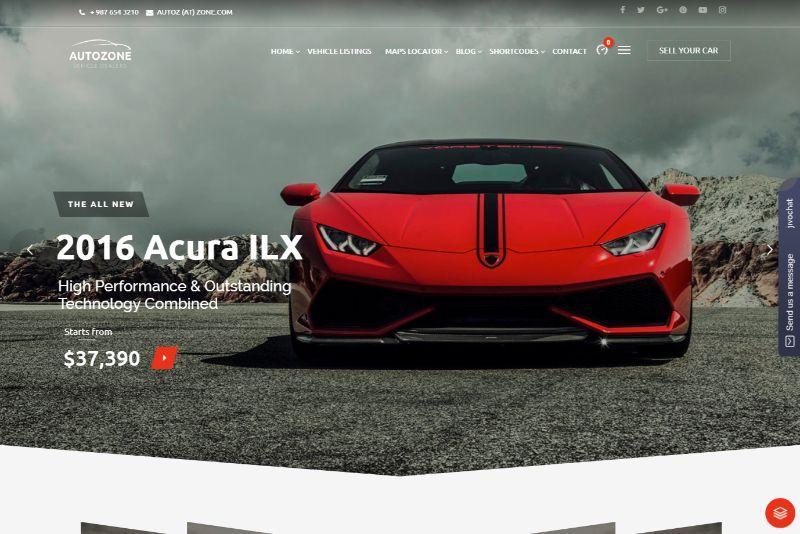 AutoZone Automotive WordPress Theme