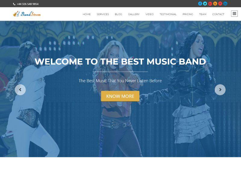 Band Strom WordPress Music Theme