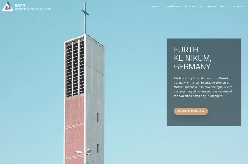 Bayn Architecture WordPress Theme