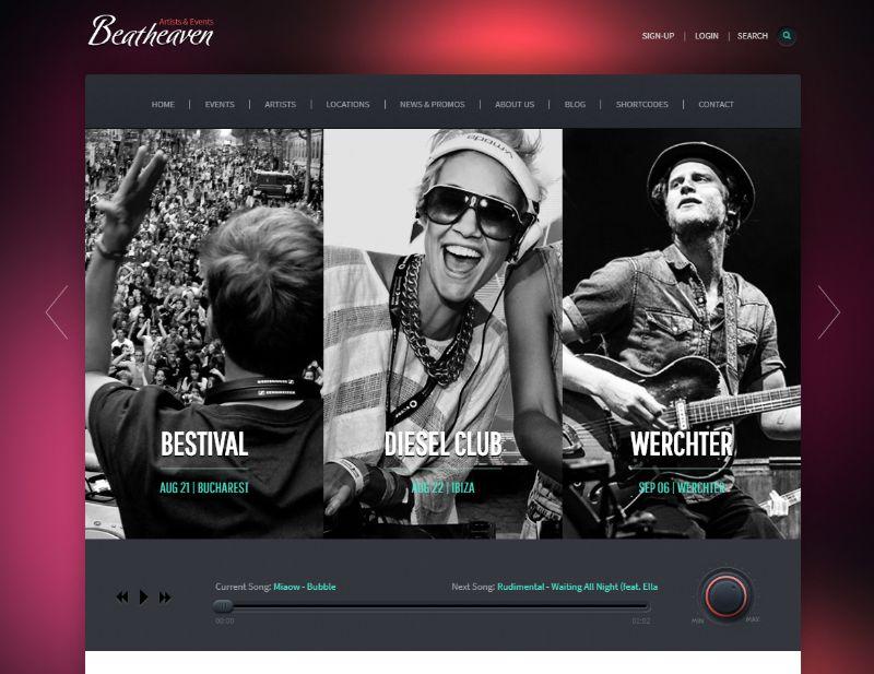 Beatheaven WordPress Music Theme