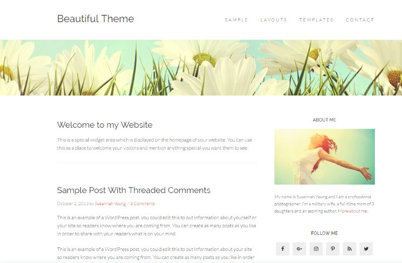 Beautiful Pro Beauty WordPress Theme