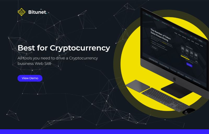 Bitunet Bitcoin Cryptocurrency WordPress Theme