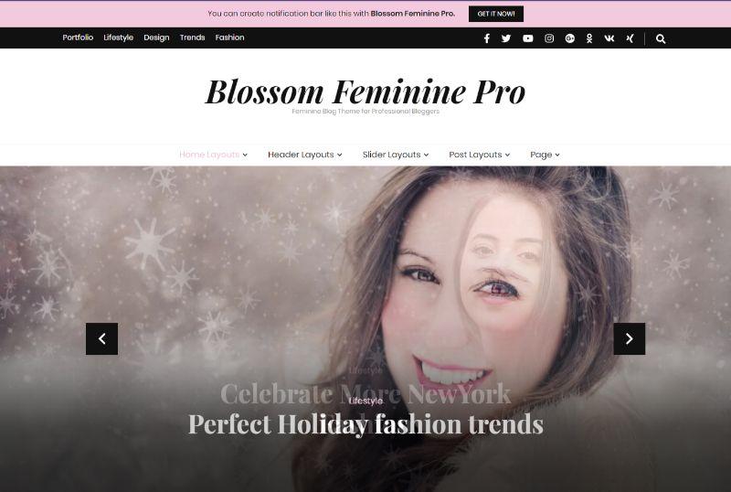 Blossom Feminine Pro Feminine WordPress Theme