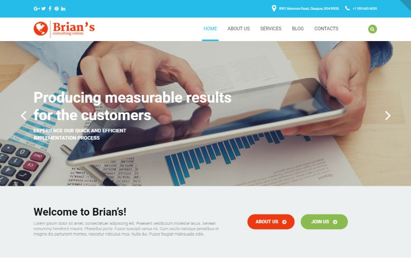 Brians Consulting WordPress Theme