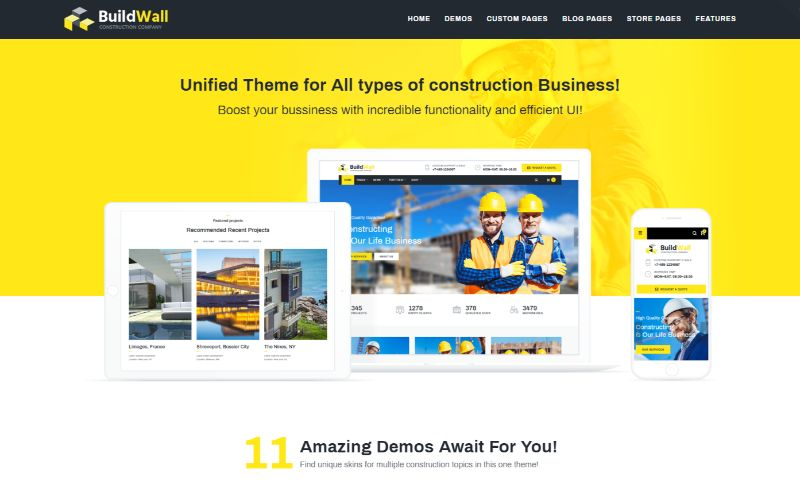 BuildWall Architecture WordPress Theme
