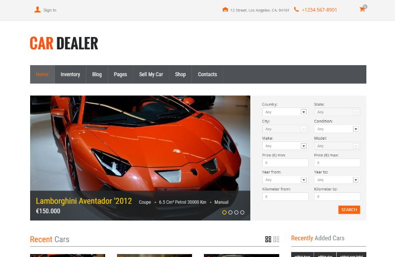 Car Dealer Automotive WordPress Theme