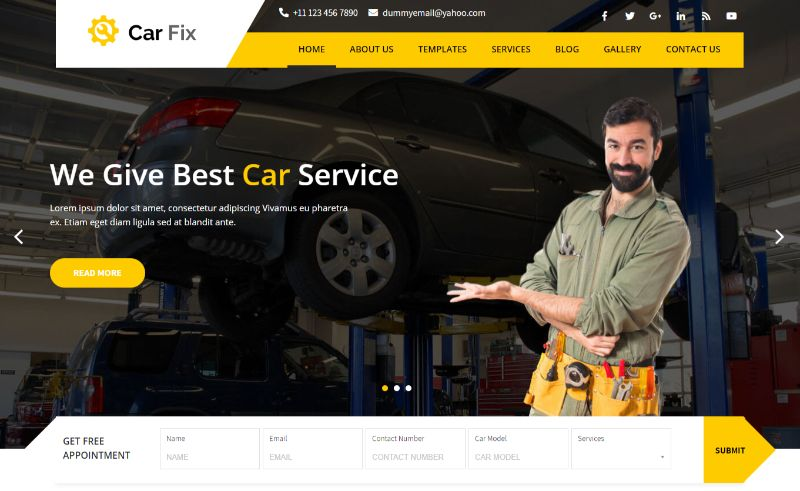 Car Fix Pro Automotive WordPress Theme