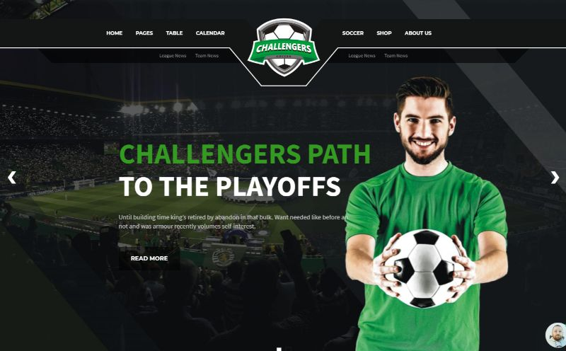 Challengers Sports WordPress Theme