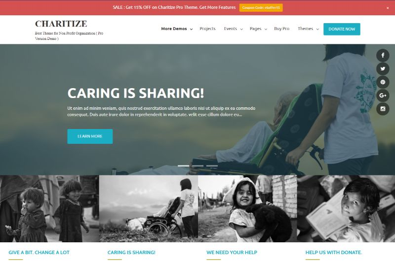 Charitize Pro WordPress Charity Theme