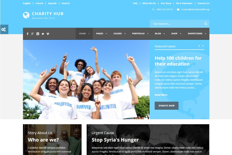 Charity Hub WordPress Charity Theme