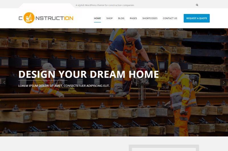 Construction Pro Architecture WordPress Theme
