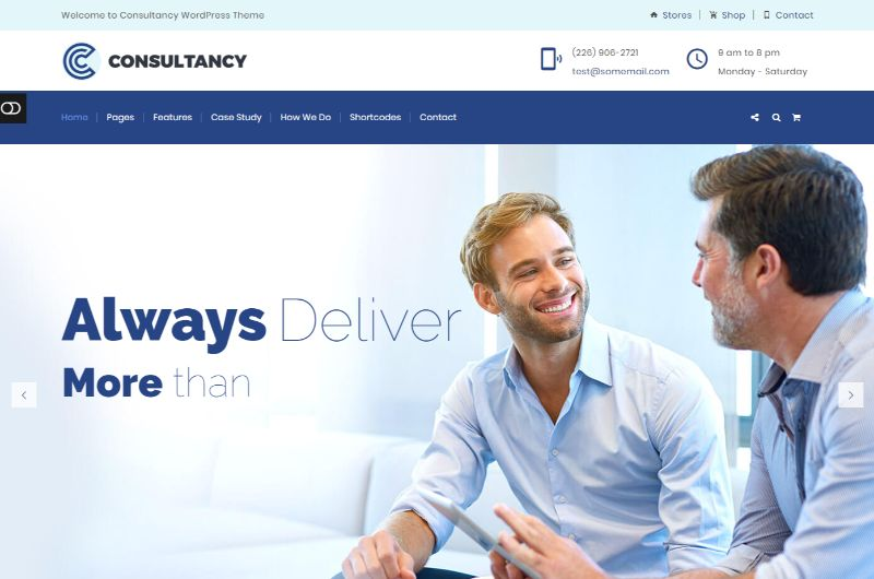 Consultancy Consulting WordPress Theme