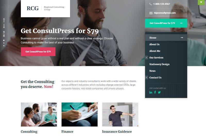 ConsultPress Consulting WordPress Theme