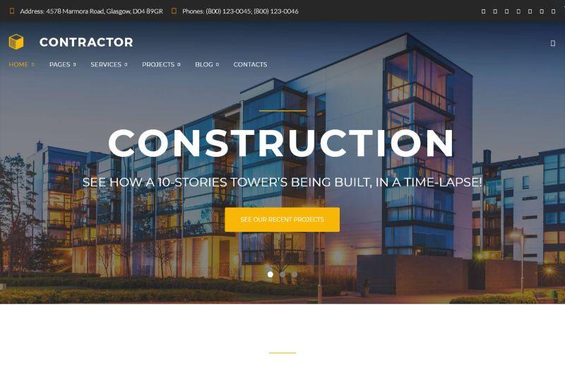 Contractor Architecture WordPress Theme