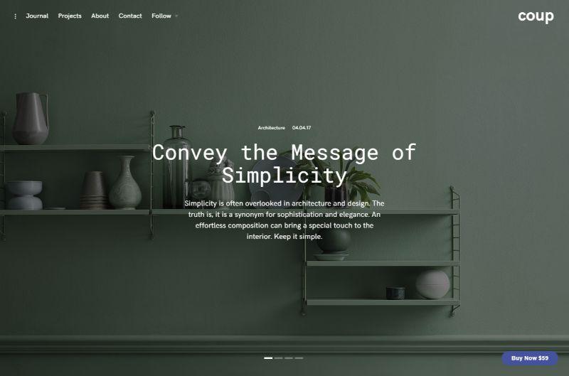 Coup Architecture WordPress Theme