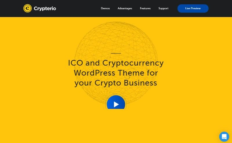Crypterio Bitcoin Cryptocurrency WordPress Theme