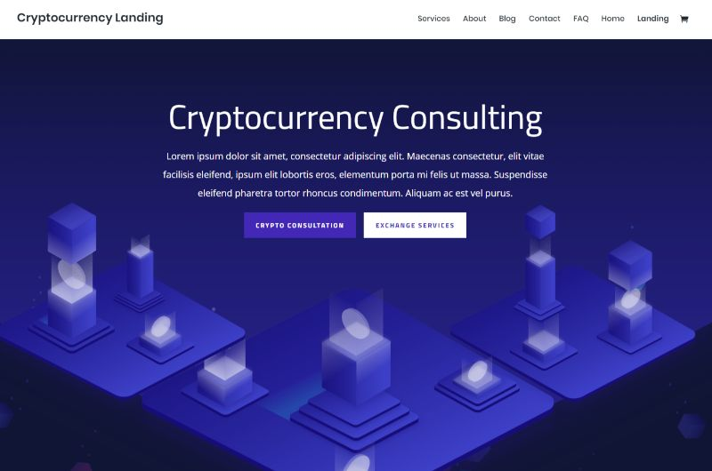 Cryptocurrency Layout Pack for Divi