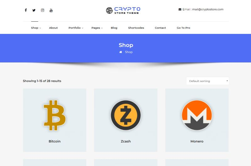 CryptoStore Bitcoin Cryptocurrency WordPress Theme