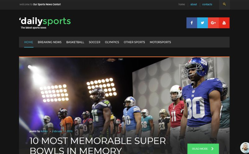 DailySports Sports WordPress Theme