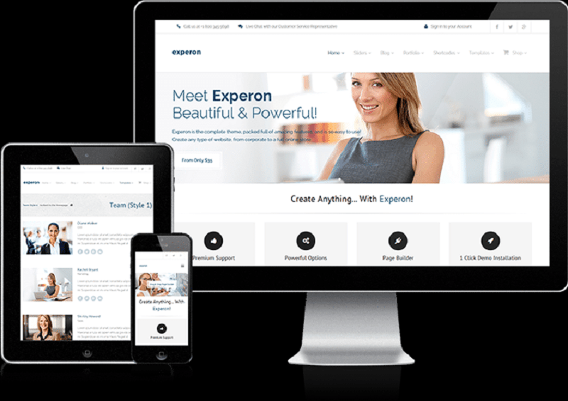 Experon Multipurpose WordPress Theme