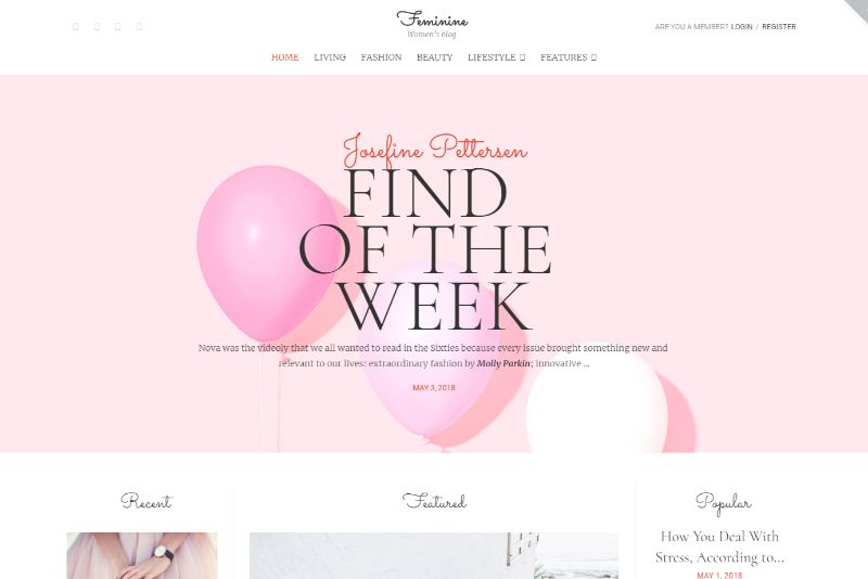 Faminine Feminine WordPress Theme