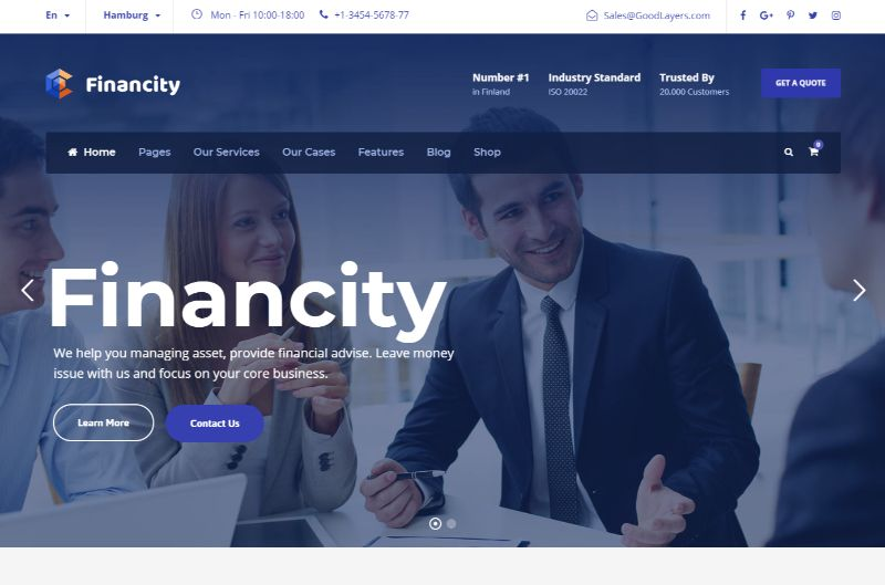 Financity Consulting WordPress Theme