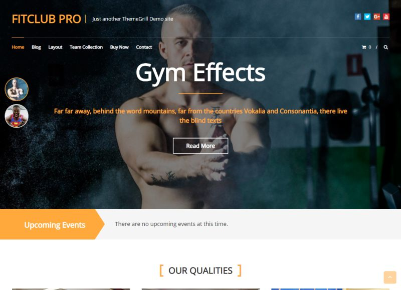 Fitclub Fitness WordPress Theme